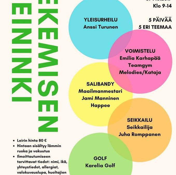 Tekemisen Meininki -kesäleiri 5.-9.6.2017