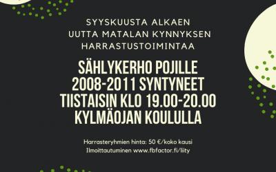 20008-2011 syntyneille pojille oma sählykerho