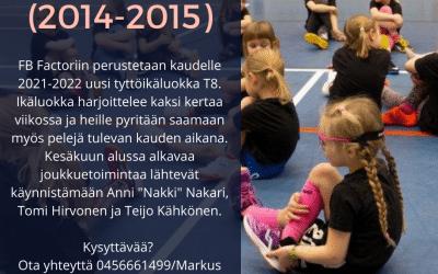 Factoriin perustetaan uusi ikäluokka T8 2014-2015 syntyneille tytöille. Tähän ikäluokkaan jos mihin otetaan avosylin vastaan kaikki uudet tyttösäbäilijät 🤩